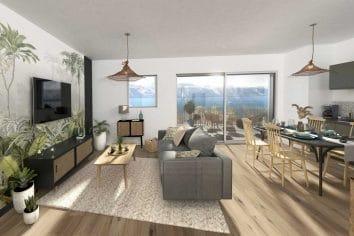 appartement intérieur vue mer